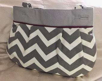 Best Baby Bag Ever!  Baby - Mama Combo Bag!  Chevron diaper bag - toddler bag - READY TO SHIP!