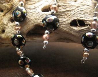 HANDMADE BEADED SET Bracelet & Earrings #375