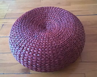Round floor cushion/straw pouf/floor pouf/footstool/floor seating/yoga cushion/meditation cushion/home decor/pouf ottoman/futon/Ikea style