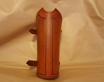 Brown Leather Bracer
