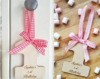 Personalised Birthday Favour. Party favour. Number/Letters. Hanging number.