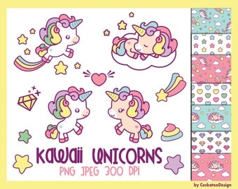 50% OFF SALE, Unicorn clip art, kawaii unicorn clip art, unicorn digital paper, cute unicorn clip art, unicorn pooping clip art, unicorn