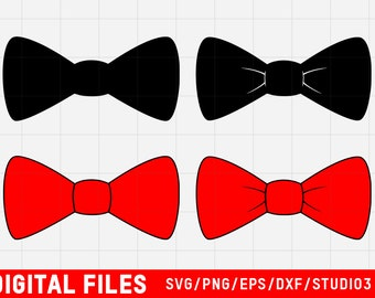 Bow Tie SVG digital files | also includes eps, dxf, png and studio3 formates