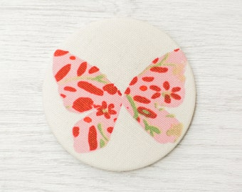 Pocket Mirror - fabric pocket mirror - butterfly mirror - hand bag mirror - make up bag mirror - token gift - stocking filler - gift for her