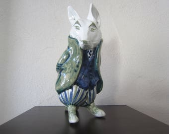 """David sharp rye Pottery """"Wind in the Willows"""" Fox vintage design 70s"""