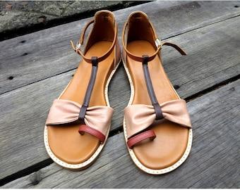 SEVEN WONDERS Summer Sandal  | Womens Leather Sandals / Womens Shoes / Leather Shoes / Sizes EU 36 - 42 / Bohemian / Handmade / Brass Buckle