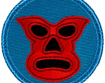 Luchador Patch (658) 2 Inch Diameter Embroidered Patch