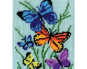 Butterfly Beauty Needlepoint Kit - 5 X 7 -SHIPS FREE