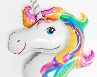 Rainbow Unicorn Foil Balloon