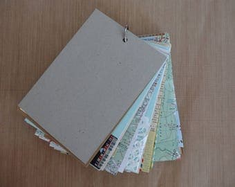 Travel journal road trip journal smash book with french maps