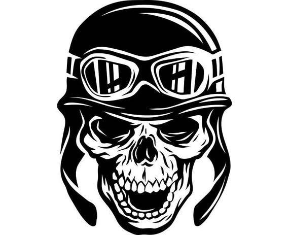 Motorcycle Skull 3 Helmet Goggles Chopper Outlaw Bike