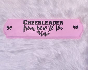 Personalized Bow Holder~Cheer Bow Holder~All Star Cheerleading~Bow Protection~Customization~Cheerleading~Cheer