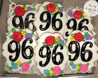 Birthday Flower Cookies  - 1 Dozen (12 Cookies)