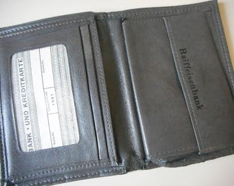 Vintage wallet, purse gray, wallet gray, men wallet, coin purse wallet,Raiffeisenbank,1987