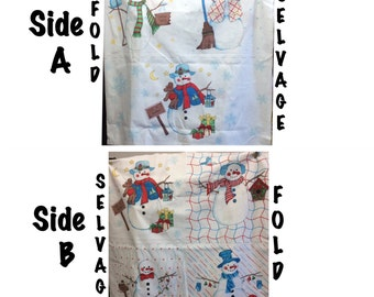 Snowman Fabric To Create Pillowcases or Pillows