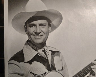 1940 Gene Autry Photo//8x10 photo//Black and White photo//Country music star//Bluegrass music