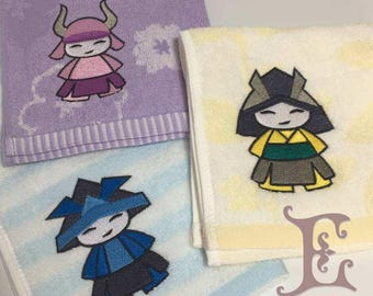 Samurai Master - Embroidered handkerchief