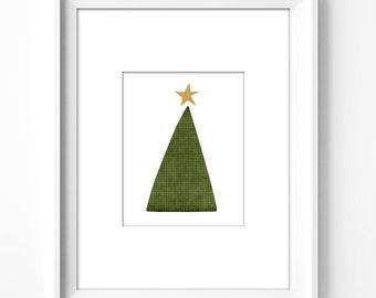 wall art printable, art print, wall decor, home decor, printable art, instant download, holiday, christmas, tree, quotes, graphic art, star