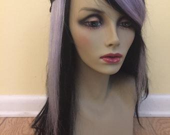 "Pair of 12"" Blue StEeL Human Hair Extension"