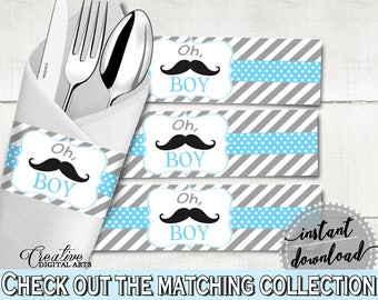 Napkin Rings, Baby Shower Napkin Rings, Mustache Baby Shower Napkin Rings, Baby  Shower