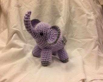 Small Purple & Grey Elephant - Amigurumi Plushie