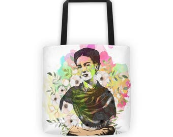 Frida Tote, Frida Bag, Frida Accessories, Art Bag, Art Tote, Frida Purse, Frida