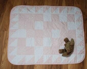 Blush squares quilt