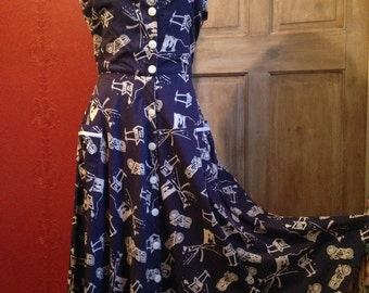 A 1950's style dress in a fab route 66 print.