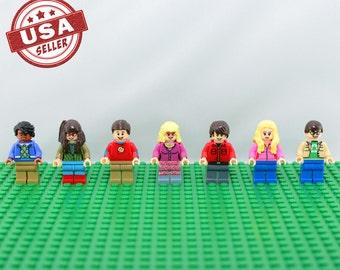 The Big Bang Theory 7 pc minifigure set (Lego Compatible) Leonard Penny Sheldon Amy Howard Bernadette Rajesh Christmas Gift Stocking Stuffer