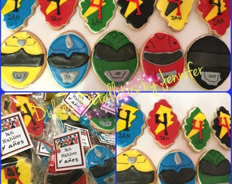 Power Rangers cookies (12qty)