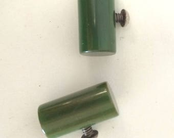 Bakelite drawer pulls knobs green