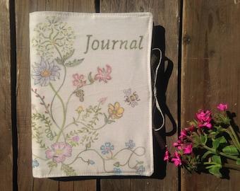 Handmade Nature Fabric Notebook Journal Cover Reusable
