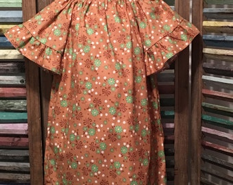 Girls dress, Girls peasant dress, Girls spring or summer dress, Toddler dress, Boho girls dress, 100% cotton,  Size 3, #122