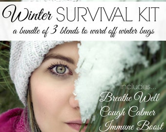 WINTER SURVIVAL KIT| Combat winter colds & Flu| Sinus Care| Cough Relief| Immune Boost