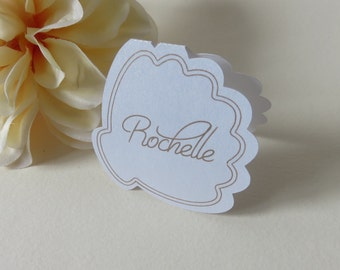 Personalized Place Cards, Seashell Place Cards, Beach Place Cards, Wedding Place Cards, Custom Place Cards