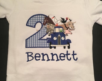 Little Blue Truck Inspired Birthday Shirt