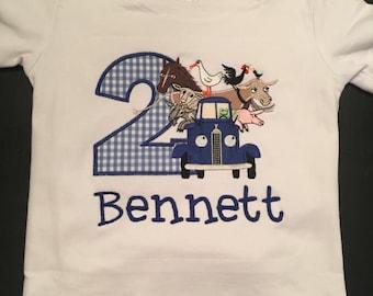 Little Blue Truck Inspired Birthday Shirt
