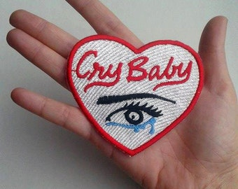 Darkside4(p) cry baby heart Embroidered patch