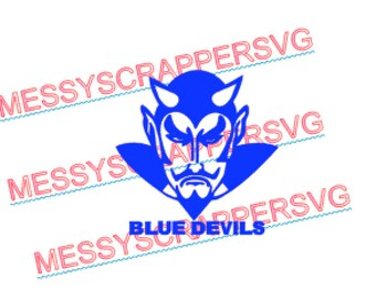 BLUE DEVIL file digital SVG file for HtV, Scrapbooking. Use with silhouette designer edition and cricut explore for your crafting needs