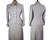 Vintage Zelinka-Matlick Flecked Grey Wool Suit