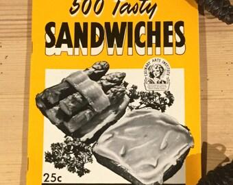 Vintage 1941 Chicago Culinary Art Institute Sandwich Cookbook Ruth Berolzheimer