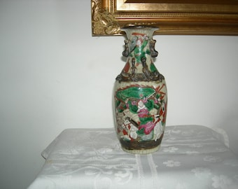 Chinese vase in porcelain end Nanjing XIX century