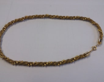 Vintage Thick Goldtone Monk Religious Style Chain Necklace - Unusual Kitsch Boho