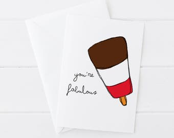 Youre Fabulous Blank Greetings Card