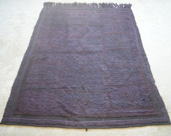 6'x6'8 Vintage Overdyed Rug, Purple Konya Carpet, Oriental Turkish Rug