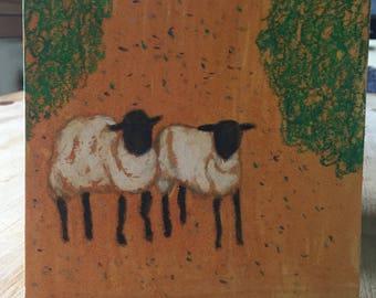 Sheep gaze