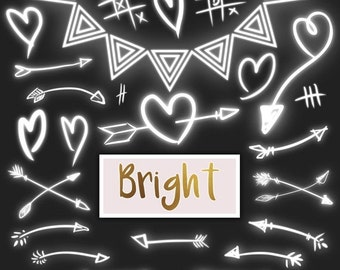 80% Until New Year - Lights clipart: light hearts and arrows clip art PNG tribal fairies arrows arrows wedding lights party lights Christmas