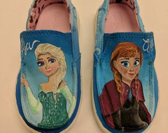 Custom painted sneakers...kids or adults...Vans. Converse, Toms, and more