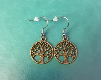 Earrings- Dreaming Tree Antique • tree of life, tree of life earrings, dave matthews band, tree earrings, tree hugger, tree jewelry, antique