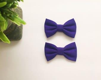 Mini Addi Bows|Purple|Pigtail Set